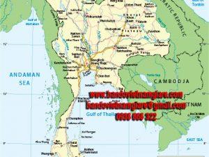 Bản đồ nước Thái Lan khổ lớn