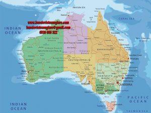 Bản đồ nước Úc khổ lớn mẫu 3