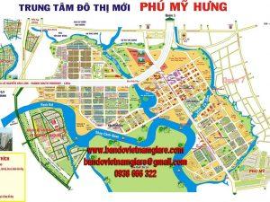 Bản đồ trung tâm đô thị mới Phú Mỹ Hưng