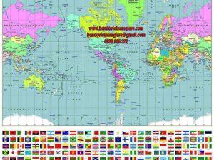 Địa chỉ bán bản đồ Thế Giới khổ lớn tại khu vực TPHCM