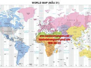 Bán bản đồ Thế Giới khổ lớn đẹp bền giá rẻ
