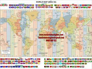 Mua bản đồ Thế Giới khổ lớn ở đâu được bảo hành 3 năm