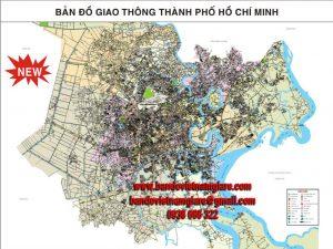 Địa chỉ bán bản đồ giao thông TPHCM khổ lớn treo tường chi tiết nhất