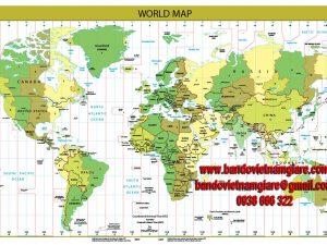 In bản đồ Thế Giới khổ lớn ở đâu bền đẹp