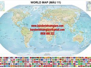 Nơi bán bản đồ Thế Giới khổ lớn rẻ đẹp
