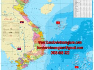 Bản đồ Việt Nam khổ lớn mẫu 14