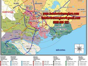 Bản đồ các khu công nghiệp miền Nam khổ lớn