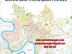 Bản đồ giao thông quận Thủ Đức TPHCM khổ lớn