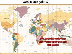 Bản đồ Thế Giới khổ lớn mẫu 40