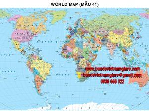 Bản đồ Thế Giới khổ lớn mẫu 41