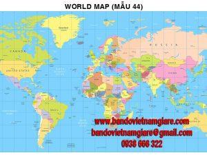 Bản đồ Thế Giới khổ lớn mẫu 44