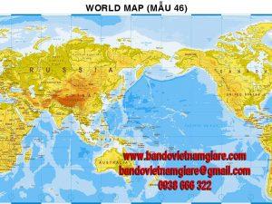 Bản đồ Thế Giới khổ lớn mẫu 46