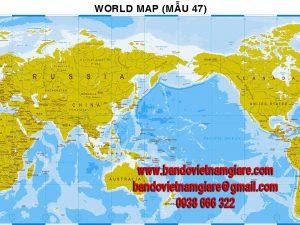 Bản đồ Thế Giới khổ lớn mẫu 47