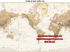 Bản đồ Thế Giới khổ lớn mẫu 49