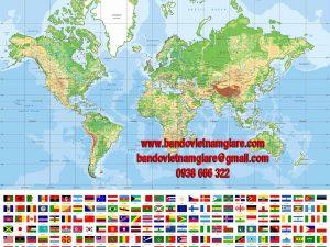 Bản đồ Thế Giới khổ lớn mẫu 51
