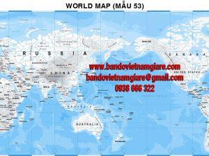 Bản đồ Thế Giới khổ lớn mẫu 53