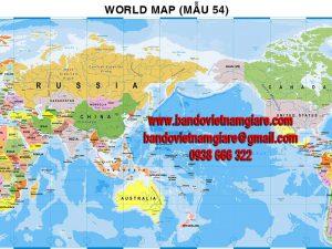 Bản đồ Thế Giới khổ lớn mẫu 54