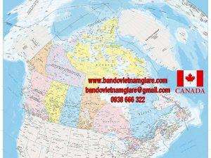 Bản đồ nước Canada khổ lớn