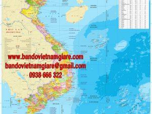 Bản đồ cảng biển Việt Nam khổ lớn