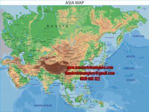 Bản đồ các nước Châu Á khổ lớn