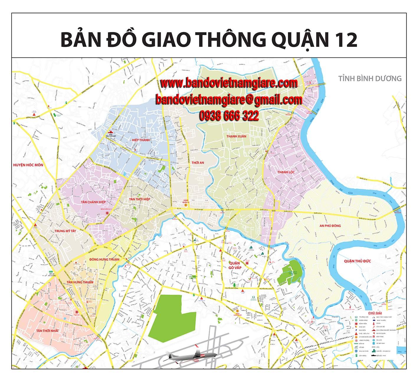 bản đồ giao thông quận 12 tphcm
