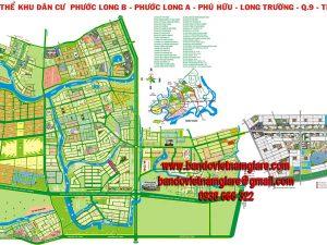Bản đồ tổng thể khu dân cư Phước Long B – Phước Long A – Q9