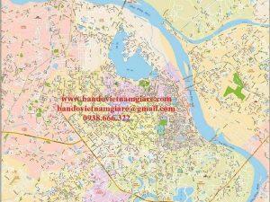 Bản đồ giao thông Hà Nội khổ lớn mẫu 1