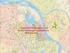 Bản đồ giao thông Hà Nội khổ lớn mẫu 3