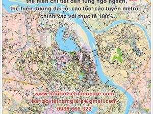 Địa chỉ bán bản đồ giao thông Hà Nội khổ lớn mới nhất