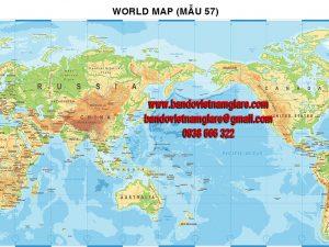 Bản đồ Thế Giới khổ lớn mẫu 57