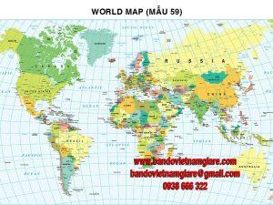 Bản đồ Thế Giới khổ lớn mẫu 59
