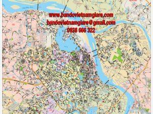 bán bản đồ đường phố thành phố hà nội mới nhất giá rẻ