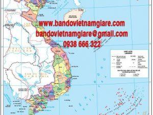 Bán bản đồ Việt Nam khổ lớn mới nhất giá rẻ