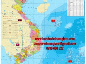 Cửa hàng bán bản đồ Việt Nam khổ lớn giá rẻ tại thành phố Hồ Chí Minh
