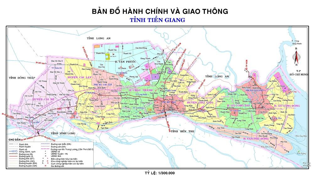 Bản đồ tỉnh Tiền Giang