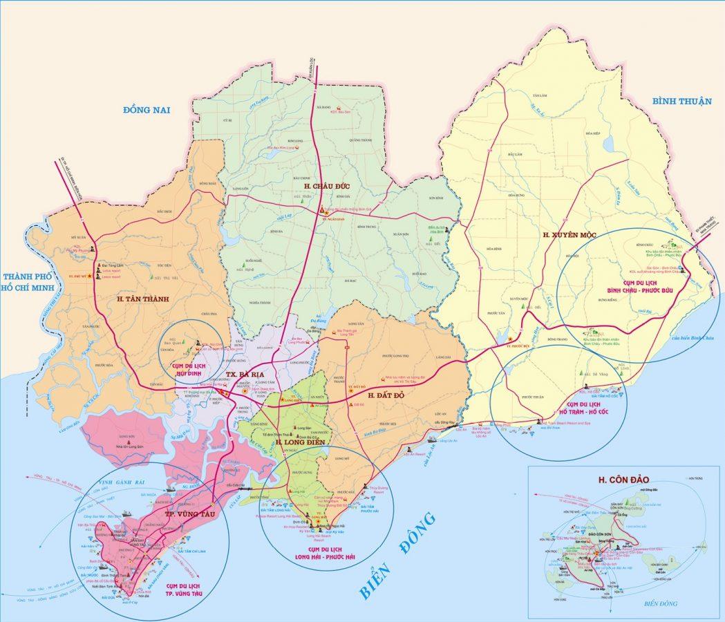 Bản đồ Bà Rịa Vũng Tàu